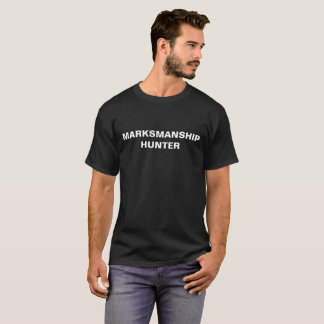 Marksmanship Hunter black t-shirt with white text