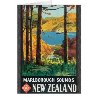Marlborough Sounds Govt Tourist Dept New Zealand, Card