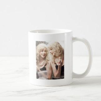 Marlene in mirror.jpg basic white mug