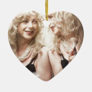 Marlene in mirror.jpg ceramic heart decoration