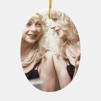 Marlene in mirror.jpg ceramic oval decoration