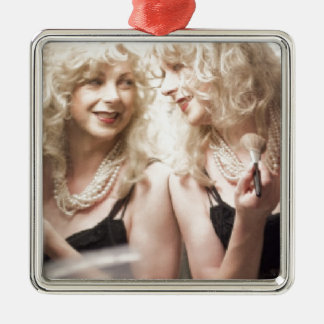 Marlene in mirror.jpg Silver-Colored square decoration