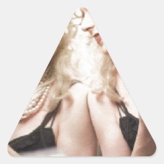 Marlene in mirror.jpg triangle sticker