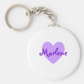 Marlene in Purple Basic Round Button Key Ring