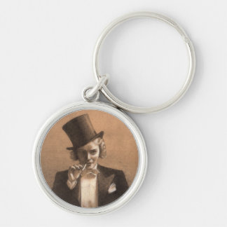 Marlene Silver-Colored Round Key Ring