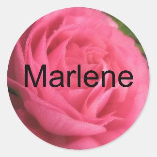 Marlene Round Sticker