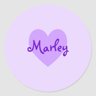Marley in Purple Classic Round Sticker