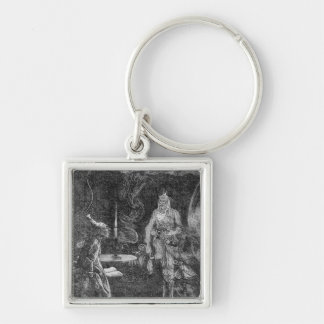 Marley's Ghost Silver-Colored Square Key Ring