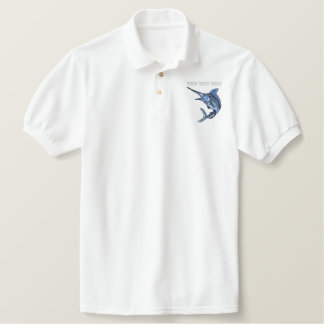 Marlin  - add your text - father's day polos