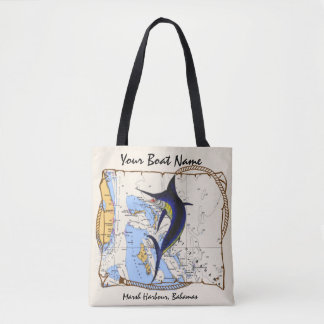 Marlin Bahamas Tote Bag
