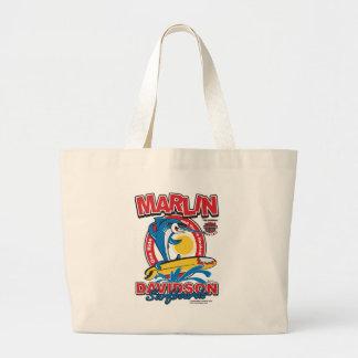 Marlin Davidsons Surfboards Large Tote Bag