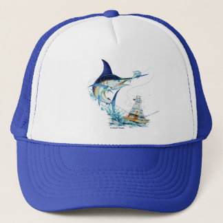 Marlin Jumping Trucker Hat