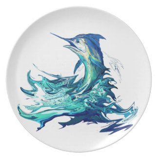 Marlin Sport Fishing Party Plates