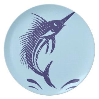Marlin Sword Fish Dinner Plate