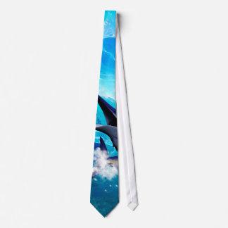 Marlin with bubbles tie