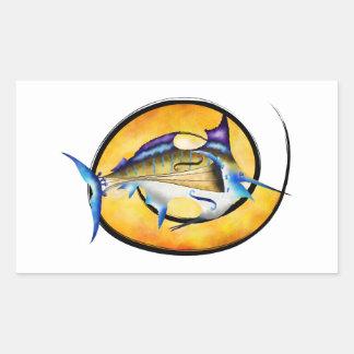 Marlinissos V1 - violinfish witout back Rectangular Sticker