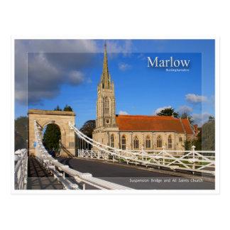 Marlow Bridge Postcard