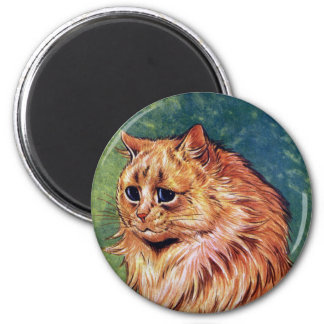 Marmalade Cat with Blue Eyes Magnets