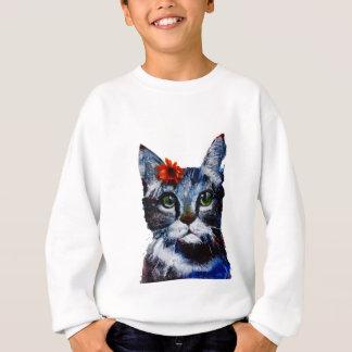 Marmalade, the cute cat who wears a flower. sweatshirt