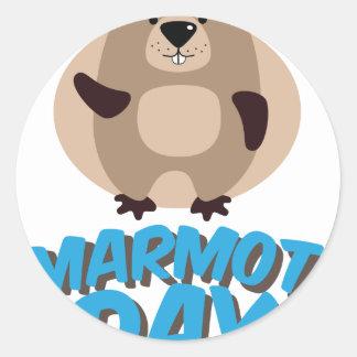 Marmot Day - Appreciation Day Classic Round Sticker