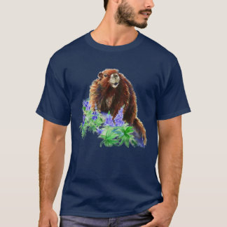 Marmot, Woodchuck, Groundhog Watercolor animal T-Shirt