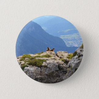 Marmots and Fassa Valley 6 Cm Round Badge