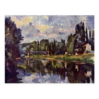 Marne-Shore By Paul Cézanne (Best Quality) Postcard