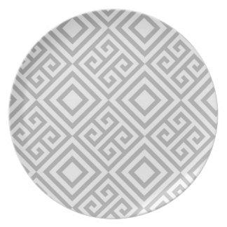 Marocco grey plate