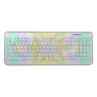 Marookoko (Pastel  Pattern) Wireless Keyboard