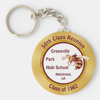 Maroon and Gold Hornets Keychains with YOUR TEXT