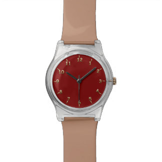 Maroon and Gold Watch