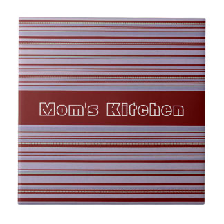 Maroon and Lavender Stripe Custom Mom s Kitchen Tiles