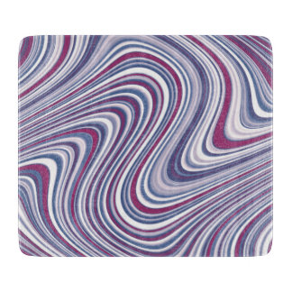 Maroon and Purple Abstract Curvy Shapes Cutting Board