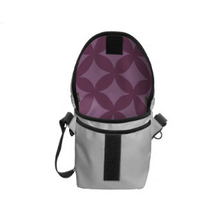 Maroon and Purple Geocircle Design Courier Bag