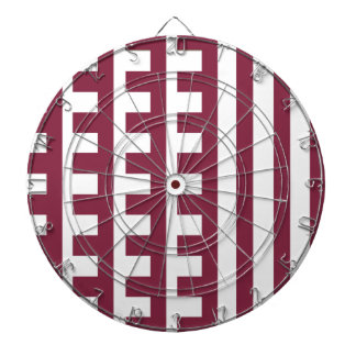 Maroon and White Combs Tooth Dartboard