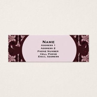 Maroon Art Deco Pattern Mini Business Card