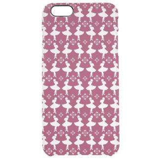 Maroon Ballarinas Clear iPhone 6 Plus Case