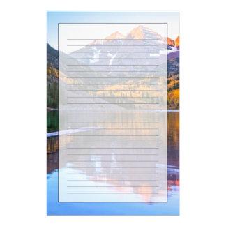 Maroon Bells Alpen Glow Custom Stationery
