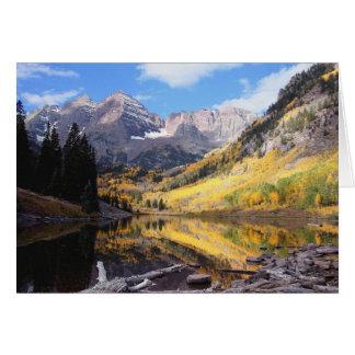 Maroon Bells Colorado Autumn Card