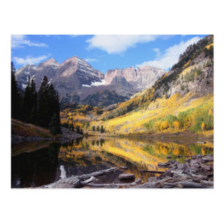 Maroon Bells Colorado Autumn Postcard