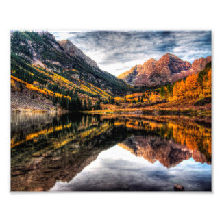 "Maroon Bells Morning 10"" x 8"" Photo Print"