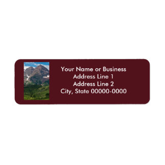Maroon Bells Return Address Label