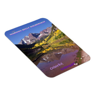 Maroon Bells Vintage Style Rectangular Photo Magnet