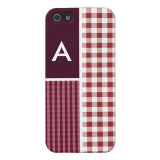 Maroon Checkered; Gingham iPhone 5 Cover