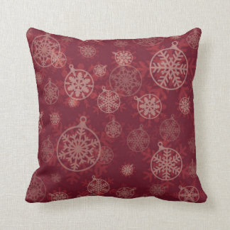 Maroon Christmas Throw Pillow