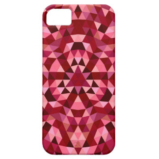 Maroon circular triangle pattern barely there iPhone 5 case