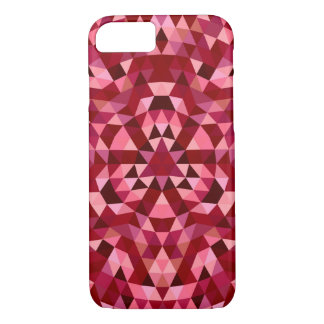 Maroon circular triangle pattern iPhone 8/7 case