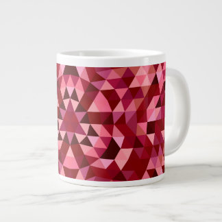 Maroon circular triangle pattern large coffee mug