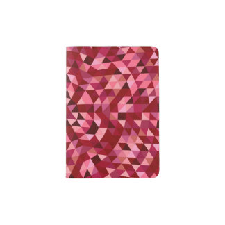 Maroon circular triangle pattern passport holder