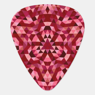 Maroon circular triangle pattern plectrum